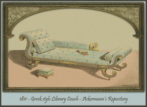 1811 Regency library couch.