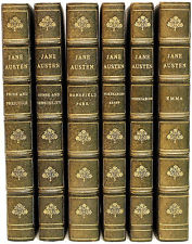 Jane Austen leather bound book set.
