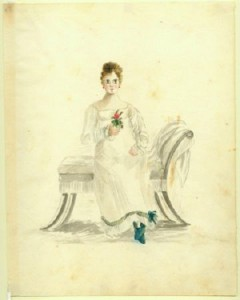 Portrait of a young lady. Acc. # 1953.158.32. Watercolor on paper by Anna Maria von Phul, 1818. Missouri Historical Society Museum Collections. Von Phul 32. Scan © 2007, Missouri Historical Society.