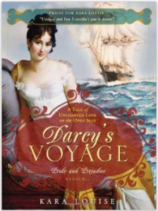 Kara Louise's novel Darcy's Voyage - program presentation at Jane Austen Society in St. Louis