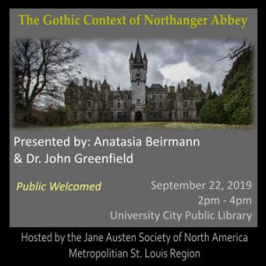 The Gothic Context of Northanger Abbey @ University City Public Library
