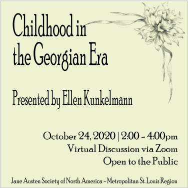 Childhood in the Georgian Era (new date!) @ Virtual Discussion via Zoom