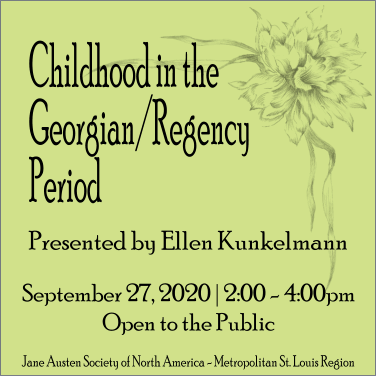 Childhood in the Georgian Era @ Virtual Discussion via Zoom