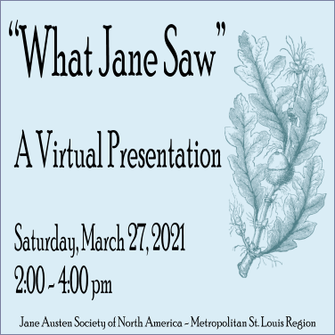 What Jane Saw @ Virtual Discussion via Zoom