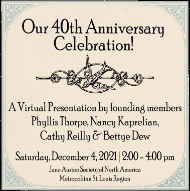 Our 40th Anniversary Celebration @ Virtual Presentation via Zoom